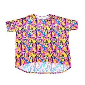 Lularoe Colorful T-Shirt Retro Style - 3XL